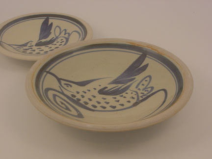 Dinner Plate-1 Bird in Blue