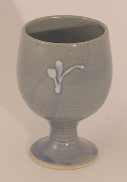 Goblet- Blue with White Flourish-ALL SOLD!