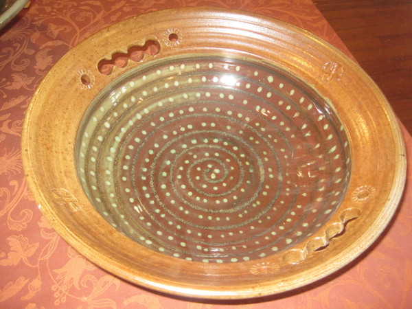 Large Bowl; wood fired;artistic
