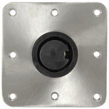 "Plug-In 7"" X 7"" Floor Base S/S Polished"
