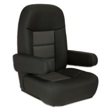Mariner Pilot Helm Seat Black & Charcoal