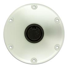 "Plug-In 9"" Diameter Anodized Floor Base 2-3/8"""