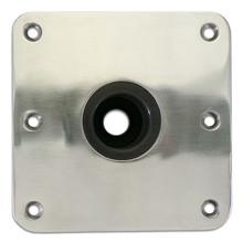 """Spring-Lock Floor Base 7"""" X 7"""" Stainless Steel"""