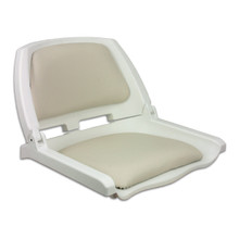 Traveler Fold Down Seat White with White Cushions