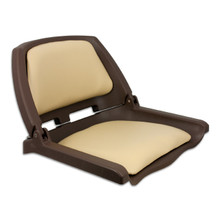 Traveler Fold Down Seat Brown with Tan Cushions