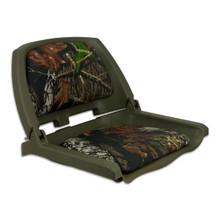 Traveler Fold Down Seat Green with Mossy Oak Break Up Cushions