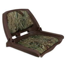 Traveler Fold Down Seat Brown with Mossy Oak Duck Blind Cushions