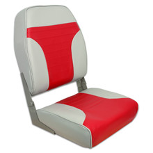 Fold Down Economy Coach HB Seat Gray & Red