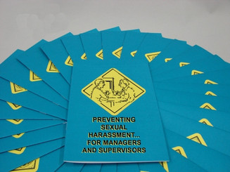 Preventing Sexual Harassment for Managers and Supervisors Employee Booklet (Pack of 15)