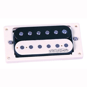 While the original spec for Humbucker bobbins was black, a shortage of these items on the production line in the 1950s resulted in bobbins being sourced in virgin material (ivory coloured plastic), hence when guitarists started to remove their brass covers, they discovered that some guitars contained what have become known as Zebra pickups. Some people believe these are the best sounding double coil pickups ever. Trev just think they look great, and by using the same windings as the WVC pickup, they are as authentic sounding as anything currently available.