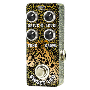 """<p>XVIVE SWEET LEO MICRO OVERDRIVE BY THOMAS BLUG</p> <p><span>Xvive Sweet Leo overdrive allows you to blend a cleaner more elegant overdrive characteristic with shimmering bell type hi-end known from Class A tube amplifiers, to the raunchy and """"dirty"""" overdrive sound, known from cranked up good old tweed amps.</span><br /><br /><span>Designed to be more than a rhythm guitar pedal, it has a tight low end and pulsing clarity even on high gain settings, you can hear the original tone even with the drive on full.</span><br /><br /><span>Roll back the level pulling the volume on the tone for a clean boost.</span><br /><br /><span>Xvive Sweet Leo overdrive allows you to blend a cleaner more elegant overdrive characteristic with shimmering bell type hi-end known from Class A tube amplifiers, to the raunchy and """"dirty"""" overdrive sound, known from cranked up good old tweed amps.</span><br /><br /><span>Designed to be more than a rhythm guitar pedal, it has a tight low end and pulsing clarity even on high gain settings, you can hear the original tone even with the drive on full.</span><br /><br /><span>Roll back the level pulling the volume on the tone for a clean boost.–takesasharpdistortionandgivesitsomeextraroom</span><br /><br /><span>FootSwitchtoggleeffectson/bypass(blueLED""""on""""indicator)</span></p>"""