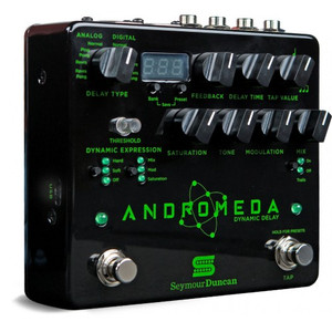 Andromeda is a fully programmable digital delay, combining classic sounds with unique dynamic control for an inspiring musical experience.