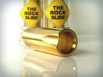 The Rock Slide Polished Brass Bottleneck - Large