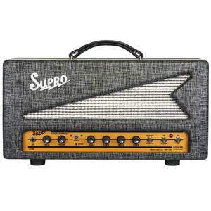 "<p>SUPRO STATESMAN 50W TUBE AMPLIFIER HEAD - 240V</p> <p><span>The 1699R Statesman is a two-channel, 50W amplifier that unites vintage Supro tone with modern channel switching functionality, tube-driven reverb and a multi-purpose, all-tube effects loop.</span><br /><br /><span>The red channel found in the Statesman uses the two-knob preamp from the legendary Supro Thunderbolt amplifier for high-headroom rock & roll power. The Statesman's blue channel contains the high-gain preamp, 2-band EQ and all-tube reverb section of our acclaimed Comet model. The Statesman provides A/B/Both channel switching operation, allowing the two channels to be run in parallel, creating a massive, dual-preamp sound where each channel contributes part of the overall texture.</span><br /><br /><span>In addition to the tube-driven spring reverb, the Statesman's blue channel contains an all-tube, switchable effects loop that provides a set of useful functions—including ""wet only"" reverb effects, which can be independently dialed in and blended with the dry sound from the red channel. The variable send and return levels allow the effects loop to function as a level and/or gain boost when engaged, even when nothing is plugged into the loop. The effects loop can also act as a master volume for the blue channel when bedroom levels are desired. As a final touch, both the effects loop and the reverb on the Statesman feature a relay-controlled ""spill-over"" effect, allowing reverb and delay trails to decay naturally when switching between channels.</span><br /><br /><span>The 50-watt power amp in the Statesman is switchable between Class A and Class AB operation. The Class-A (cathode bias) setting provides the distinctive midrange growl that has been the cornerstone of the Supro sound since the company was founded in 1935. The Class AB (grid bias) configuration presents less compression along with additional headroom, more punch and faster attack. The Statesman comes loaded with military-grade Sovtek power tubes that are precision-matched at the Supro factory in Port Jefferson, NY.</span><br /><br /><span>The Supro Statesman is available in a 1x12 combo format or as a compact head, covered in black rhino hide tolex and sized to sit perfectly atop the 1x12 and 1x15 Black Magick speaker cabinets, as well as the new, 2x12 Statesman speaker cabinet. Designed by Thomas Elliott, this all-tube masterpiece is equipped with 16-ohm, 8-ohm, and 4-ohm speaker outputs with enough power to drive up to four 2x12 cabs simultaneously for a look and sound worthy of the biggest stadiums and arena stages.</span><br /><br /><span>• Thunderbolt preamp (red channel)</span><br /><span>• Comet preamp (blue channel)</span><br /><span>• A/B/Both channel switching</span><br /><span>• Switchable tube-driven spring reverb</span><br /><span>• Switchable tube-driven effects loop</span><br /><span>• Effects loop can function as a Boost</span><br /><span>• Wet-only reverb effects available</span><br /><span>• 50 Watts, switchable Class A or AB</span><br /><span>• 2x 6L6WGC / 5881 tube power amp</span><br /><span>• Channel selector footswitch and 20' TRS cable included</span><br /><span>• Black rhino hide tolex with gold faceplate</span></p>"