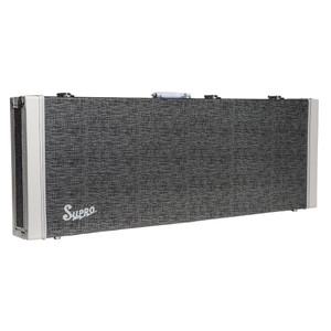 <p>SUPRO ISLAND SERIES GUITAR CASE</p> <p><span>Rectangular hardshell case covered in black rhino tolex with retro piping on case ends. White carry handle. Plush lined interior with twin accessory compartment. Chrome catches and feet.</span><br /><br /><span>Suitable for ALL Supro Island guitars:</span><br /><span>• Jamesport</span><br /><span>• Westbury</span><br /><span>• Hampton</span></p>