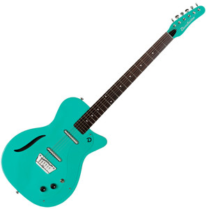 """<p>DANELECTRO 56 VINTAGE BARITONE GUITAR - DARK AQUA</p> <p><span>Vintage '56 Baritone</span><br /><span>Awesome tone and playability. 3 Vintage colors, """"S"""" Sound Hole, and our High Output, High Impedance pickups for our best sounding baritone ever.</span><br /><br /><span>Specification</span><br /><span>• Single cut body shape</span><br /><span>• """"Dolphin"""" headstock</span><br /><span>• 29.75″ scale neck</span><br /><span>• Number of frets: 24</span><br /><span>• Fully adjustable bridge</span><br /><span>• 2 high output, high impedance Lipstick® pickups</span><br /><span>• 1 master volume</span><br /><span>• 1 master tone</span><br /><span>• 3 way pickup selector</span><br /><span>• """"S"""" sound hole</span></p>"""