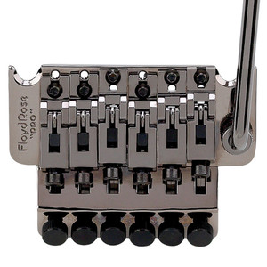 """The low-profile version of our infamous Original tremolo, the 1000 Series Pro features the same string spacing as the Floyd Rose Original (.420"""") whereas the German Pro has a narrower spacing. Available in a variety of nut sizes that will fit practically any electric guitar, the tremolo kit contains the bridge, locking nut, springs & claw, mounting studs, and all hardware necessary for installation."""