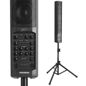 "<p>FISHMAN SA330X PERFORMANCE AUDIO SYSTEM</p> <p><span>The SA330x is the go-to portable PA/amplifier for voice, playback and amplified acoustic instruments.</span><br /><br /><span>Unlike many other similar-looking systems, the SA330x is built around a uniquely configured 2-way speaker system that delivers all the sweetness and definition of a great studio monitor. Ruggedly built and with plenty of power, the SA330x is the perfect solution for amazing sound in small and medium-sized venues.</span><br /><br /><span>Tuned beautifully for voice and acoustic instruments, the new SA330x, alone or as part of an expanded system, allows anyone looking to fill a small to medium sized room, corporate display, club or similar sized venue with great, Fishman-quality sound.</span><br /><br /><span>Whether you're using your SA330x for speech, performance or playback, a full complement of inputs and outputs makes set-up a breeze.</span><br /><br /><span>The SA330x features a uniquely configured 2-way speaker system that delivers all the sweetness and definition of a great studio monitor. The ""Modified Line Array"" fills the room with sound that can be heard clean and clear in the back row, without ""blowing away"" your audience in the front.</span><br /><br /><span>SA330x features:</span><br /><span>• 330 Watts – More than enough power for small and medium sized venues.</span><br /><span>• Wide dispersion modified line array – Allows everyone in your audience to hear you clean and crisp, without ""blowing away"" the front row.</span><br /><span>• Channel expandability via accessory port – Provides one-cable audio and power for the SA Expand.</span><br /><span>• Full-range audio source handling.</span><br /><span>• Subwoofer output – Dedicated output optimizes system voicing.</span><br /><span>• Modern industrial design – Strong, lightweight, good looking and easy to set up. Appropriate for all kinds of situations.</span><br /><span>• Padded carry sleeve included.</span><br /><br /><span>SA330x FEATURES & INFO</span><br /><span>POWER: 330 Watts, bi-amped</span><br /><span>DRIVERS: Six 4"" mid-woofers, patented dual gap, high excursion design, neodymium magnets. One 1"" neodymium soft dome tweeter with Level control</span><br /><span>SPL: 113dB SPL @ 1 meter</span><br /><span>DRIVER CONFIGURATION: Modified Line Array; Ultra-wide horizontal dispersion and deeper sound penetration</span><br /><span>DIMENSIONS: 41.4"" H x 5.5"" W x 6.7"" D (1052 mm) x (140 mm) x (170 mm)</span><br /><span>WEIGHT: 27.5 lbs (12.47 kg) including stand and padded carry sleeve</span><br /><span>SA330x: 19.8 lbs (8.98 kg)</span><br /><span>Stand: 6.7 lbs (3.04 kg)</span><br /><span>Carry Bag: 1 lb (.45 kg)</span></p>"