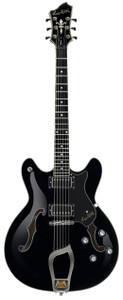 """<h1 class=""""pos-title""""><a title=""""Viking®"""" href=""""http://www.hagstromguitars.eu/index.php/electric-guitars/viking-models/item/viking"""">Viking®</a>The all-rounder</h1> <div class=""""pos-description""""> <div class=""""element element-text first"""">Vikings took no prisoners and neither will this versatile and elegant instrument. The all-rounder, it covers all genres, from blues to rock/fusion, jazz - and back.</div> <div class=""""element element-textarea last""""> <div> <p></p> </div> </div> </div> <div class=""""pos-specification""""> <h3>Specifications</h3> <ul> <li class=""""element element-select first""""><strong>Body:</strong>Semi-Hollow Contoured Ply Maple</li> <li class=""""element element-select""""><strong>Neck:</strong>Canadian Hard Maple, set</li> <li class=""""element element-select""""><strong>Fingerboard:</strong>Resinator™ Fretboard with Hagstrom 6mm Dot Position Marks</li> <li class=""""element element-select""""><strong>Fretboard Radius:</strong>14</li> <li class=""""element element-select""""><strong>Trussrod:</strong>H-Expander</li> <li class=""""element element-select""""><strong>Tuning Keys:</strong>Hagstrom 18:1 Die Cast</li> <li class=""""element element-select""""><strong>Scale Length:</strong>24,75"""" / 628 mm / Graph Tech™ Black Tusq XL 43mm nut</li> <li class=""""element element-checkbox""""><strong>Pickups:</strong>2 x Hagstrom HJ-50</li> <li class=""""element element-select""""><strong>Pickup Selector:</strong>3-Way Toggle 3-Way Toggle Switch</li> <li class=""""element element-select""""><strong>Bridge:</strong>Long Travel Tune-O-Matic w/ Hagstrom Trapeze Tail Piece</li> <li class=""""element element-checkbox""""><strong>Controls:</strong>2 x Volume 2 x Tone</li> <li class=""""element element-select""""><strong>String Gauge (Factory):</strong>D'Addario EXP110 (10-46)</li> <li class=""""element element-checkbox""""><strong>Hagstrom Case:</strong>C-55 (Optional)</li> <li class=""""element element-checkbox last""""><strong>Hag-Bag:</strong>E-25 (Optional)</li> </ul> </div>"""