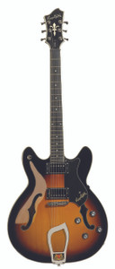 """<div class=""""box-collateral box-description product-overview col-md-9""""> <div class=""""std prod-description""""> <h2><span>THE HAGSTROM VIKING TOBACCO SUNBURST SEMI ACOUSTIC GUITAR</span></h2> <p><span>This instrument features stunning looks and great playability. If you're on the market for a semi acoustic guitar then the Hagstrom Viking has to be on your must see list. Especially when you look at the specification. The maple body has a gorgeous Tobacco Sunburst finish. It also features a maple set neck. Like all Hagstroms this Viking model comes with a Resinator Fretboard. Inside the neck is an H Expander Truss Rod. This is part of the secret sound and playability of this instrument. With its fifteen inch radius it has modern playability. You can get the action low for big bending if you want to. The Hagstrom Viking Tobacco Sunburst also comes with great hardware. The HJ-50 Humbucker pickups deliver a little more bite. Also nice is the Trapeze TailPiece and 18:1 ratio tuners.</span></p> </div> </div> <div class=""""box-collateral box-additional product-overview product-details col-md-3""""> <h2>PRODUCT DETAILS</h2> <ul> <li>BODY:<span>Semi-Hollow Contoured Ply Maple</span></li> <li>NECK:<span>Canadian Hard Maple, set</span></li> <li>FINGERBOARD:<span>Resinator™ Fretboard with Hagstrom 6mm Dot Position Marks</span></li> <li>FRETBOARD RADIUS:<span>15</span></li> <li>TRUSSROD:<span>H-Expander</span></li> <li>TUNING KEYS:<span>Hagstrom 18</span>1 DIE CAST:</li> <li>SCALE LENGTH:<span>24,75"""" / 628 mm / Graph Tech Black Tusq XL 43mm nut</span></li> <li>PICKUPS:<span>2 x Hagstrom HJ-50</span></li> <li>PICKUP SELECTOR:<span>3-Way Toggle 3-Way Toggle Switch</span></li> <li>BRIDGE:<span>Long Travel Tune-O-Matic w/ Hagstrom Trapeze Tail Piece</span></li> <li>CONTROLS:<span>2 x Volume 2 x Tone</span></li> <li>STRING GAUGE (FACTORY):<span>D'Addario EXP110 (10-46)</span></li> <li>HAGSTROM CASE:<span>C-55 (Optional)</span></li> <li>HAG-BAG:<span>E-25 (Optional)</span></li> </ul> </div>"""