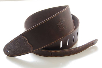 Whitestone & Willow Deluxe Series Leather Guitar Strap - Chocolate