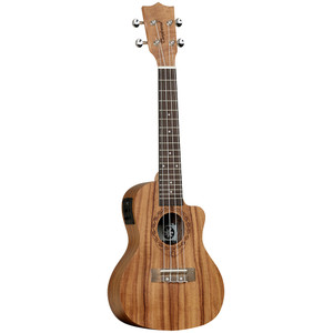 "<table style=""width: 212px;"" border=""0"" cellspacing=""0"" cellpadding=""0""> <tbody> <tr> <td class=""xl63"" width=""212"" height=""20"">Tanglewood Tiare ukuleles have been researched and developed<br /> with patience and diligence. With influences from Polynesia, the<br /> name itself is taken from the national flower of Tahiti, capturing the<br /> essence of the South Pacific ensuring the Tiare models exemplify an<br /> authentic and traditional representation of the art of the ukulele.<br /> The Tiare ukuleles are made up of a contrasting range of exotic materials,<br /> from stunning Black Walnut to Figured Hawaiian Koa tone woods, specially<br /> selected by Tanglewood to have beautiful figuring in the grain to make<br /> each instrument unique. Every ukulele features a luxury ""fiddleback""<br /> contoured back for increased sound projection and volume and Aquila<br /> strings, usually found on only the most professional high priced instruments<br /> as standard equipment. Models are also fitted with neck truss rods, along<br /> with chrome metal machine heads for precise tuning.</td> </tr> </tbody> </table>"