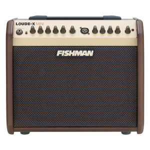 """<p>FISHMAN LOUDBOX MINI</p> <p>Fishman's lightest and most portable amp yet, the Loudbox Mini delivers the tonal quality that has made the Fishman name the standard for great acoustic sound.</p> <p>The Loudbox Mini packs 60 watts of clean acoustic power, and has two channels featuring Fishman's legendary preamp and tone control designs. The amp also features digital reverb and chorus for the instrument channel and reverb for the microphone channel. The Loudbox Mini sports an MP3 input and balanced XLR D.I. output, a must for jamming along and capturing your performances.</p> <p></p> <table class=""""productinfo""""> <tbody> <tr> <td class=""""infotitle"""" colspan=""""2"""">FEATURES & INFO</td> </tr> <tr> <td class=""""productinfoleft longtd""""> <p class=""""tabletitle"""">MODEL NUMBER:</p> </td> <td> <p>PRO-LBX-500</p> </td> </tr> <tr> <td colspan=""""2""""> <p>Digital Reverb and Chorus effects</p> </td> </tr> <tr> <td colspan=""""2""""> <p>1/4"""" and 1/8"""" auxiliary inputs</p> </td> </tr> <tr> <td colspan=""""2""""> <p>Mix D.I. output</p> </td> </tr> </tbody> </table> <p></p> <table class=""""productinfo""""> <tbody> <tr> <td class=""""infotitle"""" colspan=""""2"""">SPECS</td> </tr> <tr> <td class=""""productinfoleft""""> <p class=""""tabletitle"""">POWER:</p> </td> <td> <p>60 watts with Master Volume</p> </td> </tr> <tr> <td class=""""productinfoleft""""> <p class=""""tabletitle"""">DRIVERS:</p> </td> <td> <p>6.5"""" woofer, 1"""" soft dome tweeter</p> </td> </tr> <tr> <td class=""""productinfoleft""""> <p class=""""tabletitle"""">SPL:</p> </td> <td> <p>108dB SPL at 1 meter</p> </td> </tr> <tr> <td class=""""productinfoleft""""> <p class=""""tabletitle"""">SPEAKER BAFFLE:</p> </td> <td> <p>10° built-in tilt</p> </td> </tr> <tr> <td class=""""productinfoleft""""> <p class=""""tabletitle"""">DIMENSIONS:</p> </td> <td> <p>12"""" H x 13.7"""" W x 9.7"""" D<br />(305 mm x 349 mm x 247 mm)</p> </td> </tr> <tr> <td class=""""productinfoleft""""> <p class=""""tabletitle"""">WEIGHT:</p> </td> <td> <p>19.7 lbs<br />(8.6 kgs)</p> </td> </tr> <tr> <td class=""""productinfoleft""""> <p class=""""tabletitle"""">TWO CHANNELS:</p> </td> <td>"""
