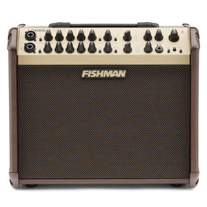 "<p> </p> <p>FISHMAN LOUDBOX ARTIST</p> <p>The Loudbox Artist packs 120 watts of ultra-clean, bi-amplified acoustic power, and enhanced features into an incredibly lightweight and portable package.</p> <p>The Loudbox Artist features two versatile channels that can each accept an instrument or mic input. Fishman's legendary tone and feedback-fighting controls, plus a dual-effects section, make the Loudbox Artist a great choice for the seriously active musician.</p> <p> </p> <table class=""productinfo""> <tbody> <tr> <td class=""infotitle"" colspan=""2"">FEATURES & INFO</td> </tr> <tr> <td class=""productinfoleft longtd""> <p class=""tabletitle"">MODEL NUMBER:</p> </td> <td> <p>PRO-LBX-600</p> </td> </tr> <tr> <td colspan=""2""> <p>Two mic/instrument channels accept 1/4"" or XLR sources</p> </td> </tr> <tr> <td colspan=""2""> <p>Input channels feature 3-band EQ and feedback controls</p> </td> </tr> <tr> <td colspan=""2""> <p>Auxiliary stereo input with level control and 1/4"" and 1/8"" connectors</p> </td> </tr> <tr> <td colspan=""2""> <p>Dual digital effects section, with independent channel and effects level</p> </td> </tr> <tr> <td colspan=""2""> <p>Reverb, Chorus, Flanger, Delay, Echo, and Slap Echo effects</p> </td> </tr> <tr> <td colspan=""2""> <p>Channel Mute to silence both input channels</p> </td> </tr> <tr> <td colspan=""2""> <p>Headphone output</p> </td> </tr> <tr> <td colspan=""2""> <p>Foot Switch input for remote muting of input channels, or Chorus, Flanger, and Slap Echo effects</p> </td> </tr> </tbody> </table> <p> </p> <table class=""productinfo""> <tbody> <tr> <td class=""infotitle"" colspan=""2"">SPECS</td> </tr> <tr> <td class=""productinfoleft""> <p class=""tabletitle"">POWER:</p> </td> <td> <p>120 watts, bi-amped</p> </td> </tr> <tr> <td class=""productinfoleft""> <p class=""tabletitle"">DRIVERS:</p> </td> <td> <p>8"" woofer, 1"" soft dome tweeter</p> </td> </tr> <tr> <td class=""productinfoleft""> <p class=""tabletitle"">SPL:</p> </td> <td> <p>112 dB SPL @ 1 meter</p> </td> </tr> <tr> <td class=""productinfoleft""> <p class=""tabletitle"">SPEAKER BAFFLE:</p> </td> <td> <p>10° built-in tilt</p> </td> </tr> <tr> <td class=""productinfoleft""> <p class=""tabletitle"">DIMENSIONS:</p> </td> <td> <p>13.5"" H x 15.5"" W x 11.5"" D <br />(343 mm x 394 mm x 292 mm)</p> </td> </tr> <tr> <td class=""productinfoleft""> <p class=""tabletitle"">WEIGHT:</p> </td> <td> <p>25.5 lbs <br />(11.6 kg)</p> </td> </tr> <tr> <td class=""productinfoleft""> <p class=""tabletitle"">D.I. OUTPUT:</p> </td> <td> <p>Balanced XLR outputs on each input channel and main mix</p> </td> </tr> <tr> <td class=""productinfoleft""> <p class=""tabletitle"">ACCESSORIES:</p> </td> <td> <p>Dual Foot Switch (ACC-LBX-FSW) sold separately</p> <p>Loudbox Artist Slip Cover (ACC-LBX-SC1) sold separately</p> </td> </tr> </tbody> </table> <p><br /><br /></p> <table class=""productinfo""> <tbody> <tr> <td class=""infotitle"">INSTRUMENT/MIC CHANNELS</td> </tr> <tr> <td> <p>Combination 1/4"" and XLR input</p> </td> </tr> <tr> <td> <p>Resonant-style bass and midrange</p> </td> </tr> <tr> <td> <p>Shelving treble</p> </td> </tr> <tr> <td> <p>Notch filter (feedback control)</p> </td> </tr> <tr> <td> <p>Input gain with 10 dB pad and clip indicator</p> </td> </tr> <tr> <td> <p>Reverb and Delay effects level</p> </td> </tr> <tr> <td> <p>Chorus, Flanger, and Slap Echo on/off</p> </td> </tr> <tr> <td> <p>Phase switch (feedback control)</p> </td> </tr> <tr> <td> <p>Dedicated effects loop</p> </td> </tr> <tr> <td> <p>24-volt phantom power for condenser mics</p> <p> </p> </td> </tr> </tbody> </table>"