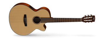 CEC models that borrow from steel-string cutaway acoustic-electrics with cutaways, narrower nut width, and Fishman electronics. The traditional style AC models have been re-engineered to improve resonance for an authentic classical guitar sound while the CEC models feature slim body with cutaway, 45mm nut width and electronics for steel-string players who love the nylon-string sound.
