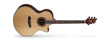 new NDX Baritone acoustic-electric guitar is designed for guitarists who want to play in lower-than-standard tuning, but struggle with intonation and thicker strings on standard acoustic models.