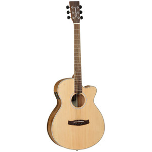 Tanglewood recognise that to introduce people to music an instrument must have a high build quality, good playability, attractive cosmetics and as many features as possible to encourage and reward aspiring musicians. Using this design brief, Tanglewood luthiers created the Discovery Acoustic series, a whole range of genuine musical instruments which feature 3 band EQ systems with stage backlighting, delicate 2mm fingerboard dots, black soft touch machine head buttons and understated sound hole rosettes, all aimed at bringing the specification of a much more expensive instrument into the entry level market.