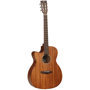 The Tanglewood Premier Historic range is designed for the uncomplicated player, who doesn't want fancy cosmetics or features, just a good workhorse of an instrument that has great tone and a reliable construction. Solid top, laminated sides and a solid back, these instruments are crafted from great quality mahogany. Carefully finished in a Matt satin lacquer these forgo any cosmetics such as binding or extravagant inlay cosmetics to convey a truly classic and vintage tone to the player. The slotted headstocks of this range add to the authentic historic vibe and the D'addario EXP strings aid the tone and projection of these models very well.