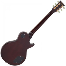 <p><span>Vintage LV100TSB Tobacco Sunburst Left Hand</span><br /><br /><span>In terms of looks and attitude, few guitars can match the out and out appeal of the Vintage V100. Offering an extraordinarily high level of specification, the build quality and constructional detail of the Vintage V100 includes a solid mahogany body and neck mated in true 'set neck' fashion for maximum tone-enhancing rigidity. An accurately-carved gently arched body top additionally adds to the V100's distinctive look. The mahogany and maple tonewoods are the ideal recipe for the kind of sounds that this style of guitar is renowned for – smokey, sultry, sweet-toned bluesy licks with a warm jazzy feel from the neck pickup help soothe the soul with an emotional calm. Charging to the other extreme with a flick of the 3-way selector switch allows the back pickup to rage and rampage through high gain amplification like no other.</span><br /><br /><span>The Vintage V100 is a perfect example of Trev Wilkinson's fascination with tone. Whilst working in California, Trev's development work in the guitar industry led him to a meeting with the father of the humbucking pickup, Seth Lover. Recognising a kindred enquiring and inventive guitar spirit, Seth Lover imparted to Trev the exact specification of the mythical pickup units he designed, and that same authentic vintage voiced recipe is what Trev uses in the V100's humbuckers to ensure you can get that elusive iconic tone from the Vintage V100.</span><br /><br /><span>The V100's rock solid chassis allows for positive string anchoring and location with the precision-manufactured Tune-O-Matic bridge and stop bar tailpiece. On the elegantly-shaped headstock, a set of three-a-side Wilkinson WJ44 tuners offers both the precise tuning feel and accuracy you'd expect from this type of guitar and – of course – the correct look, too.</span><br /><br /><span>Body: Mahogany Top:</span><br /><span>Solid Carved Mahogany (GT/ WR/ TSB/ BB/ AW)</span><br /><span>Flame