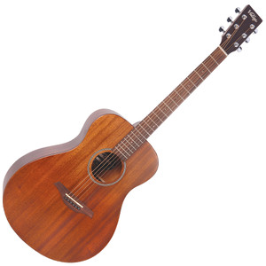 """<div class=""""heading""""> <div class=""""h2-title""""> <h2>Vintage V300 Acoustic Guitar, Mahogany</h2> </div> </div> <div class=""""short-description"""">The Vintage V300 Acoustic Guitar is fantastic value for money. This Concert Acoustic looks and sounds great with a solid Mahogany top giving you that warm, rich tone. A comfortable, fast playing neck makes the V300 a pleasure to play.</div> <div class=""""short-description""""> <p>Guitar Magazine awarded the V300 'Best Acoustic Guitar Under 1,000' in their end of year round up.</p> <p><em>""""This little concert acoustic is stonkingly good. A comfortable, fast playing neck, plus good dynamics and volume from the parlour-esque body. At this price, go buy! Every home should have one.""""</em><strong>Guitar Magazine</strong></p> <p class=""""br""""></p> <h2>Features</h2> <ul> <li>Top: Solid Mahogany</li> <li>Back: Mahogany</li> <li>Sides: Mahogany</li> <li>Scale: 647mm</li> <li>Tuners: Chrome</li> <li>Strings: High Quality USA Made</li> <li>Finish: Mahogany</li> </ul> <p><span></span></p> </div>"""