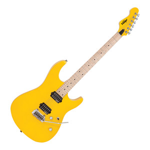"""<p>The Vintage V6M24DY in Daytona Yellow is a solid body electric guitar. Vintage have become known for making superb quality guitars at a price point you would not believe.The new Vintage V6M24 is no exception. This 24 fret electric guitar features superb hardware and playability. It's perfectly good enough to be your main instrument.</p> <p>We can't get over how much guitar you get for your money with the Vintage V6M24DY! The sleek body is made from American Alder. Double cutaways allow for good access to the upper frets. The well finished Maple neck is slim and features 24 medium jumbo frets. It's effortlessly playable. The 25.5"""" scale on the Vintage V6M24DY is further helped by the reverse headstock giving the lower strings more tension. The neck is joined to the body via a low profile 4 bolt join.</p> <p>The Vintage V6M24 uses the excellent Wilkinson VS50IIK Vibrato system. This two pivit point tremolo is incredibly stable and smooth in use. Tuning is kept rock solid thanks to Wilkinson E-Z-Lok tuners. These innovative machine heads feature two sets of holes in each post. This allows you to choose the string angle you prefer past the nut. You can use them as traditional machine heads or feed the excess string through the second hole making the string lock in to place. The Vintage V6M24 Daytona Yellow is loaded with two Wilkinson WHHB humbuckers. These provide a tight bottom end and crisp highs. The pickups are controlled by a 3-way switch with volume and tone controls.<br />The Vintage V6M24DY Daytona Yellow has to be one of the best value electric guitars on the market today, we highly recommend checking one out.</p> <p></p>"""
