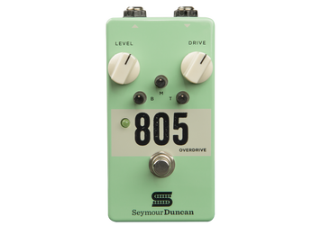 Summary A classic overdrive gives a subtle boost, fat crunch, or a searing tone to your solos. 3-band active EQ shapes your tone just the way you want.  Description Whether you're looking to give your sound a bit of a boost or trying to find harmonically rich heavy gain with warm tube character, the 805 overdrive provides the versatility needed for any type of music – blues, country, rock, metal, and everything in between. The 3-band active EQ, delivers unprecedented control -you can have a smooth, lyrical bluesy tone one minute, and crushing modern metal crunch the next. The 805 is designed to be the perfect overdrive for pushing the front end of an already distorted amp, giving you plenty of output and tone-shaping capability, but can also give your clean tone a controlled boost. Scoop your mids or tighten your hard rock/metal tone in front of a high gain amplifier. Give that solo a searing boost that cuts perfectly through the mix and give your low end rhythm parts controlled crunch. The 805 is capable of any of these and more. Being a true-bypass pedal, it will feel at home on whatever pedalboard you choose.