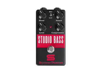 Summary A studio-quality bass compressor pedal with the ability to blend in various uncompressed sounds for ultimate dynamic control.  Description This versatile studio-grade compressor is a must have for any bass player looking to maximize their sound, with a range of tones from subtle to super-squashed. One of the secrets to the Studio Bass's power is its 3-position mini-toggle and blend knob, which give you near limitless control over your tone by letting you mix uncompressed tones alongside the effected sound. Blend in your unadulterated clean signal, a mid boost that will help you cut through the busiest mixes, or a fat low-end growl. Find that sweet spot where harder picking lifts the dry signal right up above the effected signal or mix in just a hint of the original sound. Punk rock pick players, slap-happy funkateers and ferocious fi