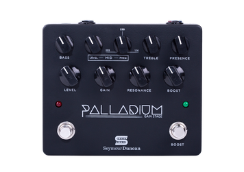 The Seymour Duncan Palladium Gain Stage Overdrive is an innovative new guitar pedal designed to offer the rich, dynamic and full tone of high gain valve amplifiers. Incorporating three adjustable gain stages the Seymour Duncan Palladium can be used with power amplifiers or amplifier clean channels to create crunching valve tones right up to super modern hi-gain tones.
