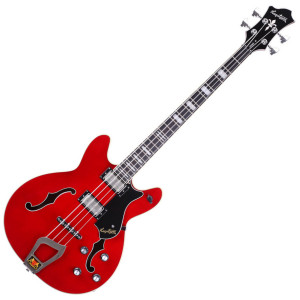 "<div class=""box-collateral box-description product-overview col-md-9""> <div class=""std prod-description""> <h2><span><span>THE HAGSTROM VIKING BASS IS SEMI HOLLOW WITH A 30.75 INCH SCALE.</span><br /></span></h2> <p>This semi acoustic bass guitar has classic styling. It comes with some very modern touches though. Play-ability wise maple set neck is slim and very comfortable. The Hagstrom Viking Bass in Wild Cherry Transparent includes an H-Expander Truss Rod. This adds stability to the neck. Important given its slender proportions. Resinator wood is a composite used for the fretboard. It delivers tones similar to tat of ebony. It is more consistent though. Housed in the semi hollow contoured ply maple body are two Dyna Rail pickups. These are controlled using a Rotary switch and volume and tone knobs. A huge range of tones can be got with this combination.</p> <h2><span>THE ROTARY SWITCH WORKS AS FOLLOWS:</span></h2> <ol> <li>Neck + Bridge, Single coil (Outer coils),</li> <li>Bridge, Single Coil (Outer Coil)</li> <li>Neck, Single Coil (Outer Coil)</li> <li>Neck + Bridge, Humbucking</li> <li>Bridge, Humbucking</li> <li>Neck, Humbucking</li> </ol> <p>This setup gives you access to a massive range of tones on the Hagstrom Viking Bass.</p> </div> </div> <div class=""box-collateral box-additional product-overview product-details col-md-3""> <h2>PRODUCT DETAILS</h2> <ul> <li>PRODUCT CODE: <span>VIKBWCT</span></li> <li>FINISH: <span>Wild Cherry Transparent</span></li> <li>BODY: <span>Contoured Ply Maple</span></li> <li>NECK: <span>Canadian Hard Maple, Set-neck</span></li> <li>FINGERBOARD: <span>Resinator with Hagstrom Pearl Block Position Marks / 15 Inch Radius / Graph Tech Black Tusq XL 40mm nut</span></li> <li>TRUSSROD: <span>H-Expander</span></li> <li>TUNING KEYS: <span>Hagstrom 22</span>1 DIE CAST:</li> <li>SCALE LENGTH: <span>30,75"" - 781 mm</span></li> <li>PICKUPS: <span>2 x Dyna Rail - Viking Bass N/B</span></li> <li>PICKUP SELECTOR: <span>6-Way Rotary</span></li> <li>BRIDGE: <span>Long Travel Tune-O-Matic w/ Hagstrom Trapeze Tail Piece</span></li> <li>CONTROLS: <span>2 x Volume 2 x Tone</span></li> </ul> </div>"