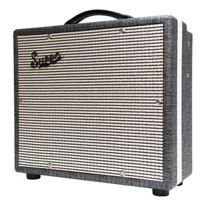 "<p>SUPRO COMET 1 X 10 TUBE AMPLIFIER</p> <p>The Supro 1610rt Comet is a high-gain, low-wattage 1×10 combo with reverb, tremolo and switchable power. Designed to act as a go-anywhere companion to your favorite guitars, this lightweight tube amp cranks out 6-Watts or 14-Watts of screaming hot vintage tone with an on-board option to drench your sound in tube-driven reverb and tremolo. The Comet is your desert island tube amplifier.</p> <p>The preamp found in the Comet delivers warm, blooming clean tones up until 12-o-clock on the volume knob. Past noon, the Comet's voice rolls over into Supro crunch, giving way to a singing, violin-like overdrive at full volume. The Comet is remarkably high-gain for a vintage flavored amp and it nails that sweet-spot without being too loud for comfort.</p> <p>The Comet's vintage correct tremolo effect occurs in the preamp, before the reverb. This 12Ax7-based tremolo circuit allows for wider overall speed range and a deeper effect as compared to our louder models where the tremolo happens in the power tubes, after the reverb.</p> <p>The power-amp found in the Comet uses a single 6L6 tube with switchable plate voltage to achieve studio and practice friendly 6 Watts or a more robust 14 Watts for stage use. The overdrive that occurs within the Comet's ""single-ended,"" Class-A output stage is rich in even-order harmonics and soaked in tube compression. True to the legacy of the original, microphone-friendly Supro combos, the Comet's exceptional dynamics and ultra-low noise performance make it an ideal recording amp.</p> <p>The Comet is dressed in 1959 Supro cosmetics, with Black Rhino Hide tolex, black piping, white welting and a gold faceplate. Similar in construction to our award winning Black Magick and Supreme amplifier models, there is no beam blocker in front of the Comet's custom-made CR10 speaker, facilitating maximum throw and crystal-clear treble response from this compact all-tube masterpiece.</p> <p>A matching 1700 BD12 loaded, 1×12 extension cabinet can also be hooked up to the Comet, bringing the overall speaker impedance load down to 4-ohms to deliver maximum punch and additional stage volume for gigs. The 1610 Comet, and the entire line of Supro amps is hand-assembled in by Absara Audio in Port Jefferson, NY, USA.</p> <p>Features:<br />• High Gain preamp<br />• All-tube Tremolo and Reverb<br />• 6-Watts or 14-Watts Switchable Power</p> <p>• Single-Ended ""Class-A"" Power Amp<br />• 1 × 10″ Custom-voiced Supro CR10 speaker<br />• EXT speaker jack for matching extension cabinet<br />• 3x JJ 12AX7 preamp tubes<br />• 1x JJ 12AT7 preamp tube\<br />• 1x Sovtek 5881/6L6WGC power tube<br />• 17 5/8″ x 7 1/2″ x 15 1/2″ – 44.7 x 19 x 39.4 cm<br />• 6 lbs – 15.3 kg<br />• Gold Faceplate<br />• 1959 Cosmetics with Black Rhino Hide Tolex<br />• Assembled in NY, USA</p> <p>SKU: 181118090364</p>"