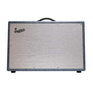 "<p>SUPRO BIG STAR 2 X 12 TUBE AMPLIFIER 25W W/TREMOLO</p> <div class=""tabbody mb10""> <p><em>A whole load of vintage 2x12 tone, packaged in a classic cabinet and built in NY, try the Supro 1688T Big Star on for size!</em></p> </div> <ul class=""altered_beast""> <li>Valve guitar combo amplifier</li> <li>All-tube vintage Supro circuit</li> <li>2 Channels with Parallel Link</li> <li>Tube Tremolo with footswitch jack</li> <li>2 x 12"" Supro DT12 speakers</li> <li>25-Watts Cathode Bias</li> <li>4x 12AX7EH valves and 2x 6973 power tubes</li> <li>Blue Rhino Hide Tolex</li> <li>Assembled in Port Jefferson, NY – USA</li> </ul>"