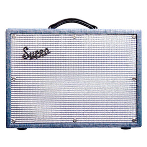 """<p>A small yet mighty combo from the clever folks at Supro - This thing can swamp with the best of 'em! The Supro 1622RT Tremo Verb is a super lightweight, vintage sounding amp powered by a pair of 6973valves with a 5U4valve rectifier to deliver 25 watts of output power. Think Zep, CCR and you're their, you can't help but play """"Born on the Bayou"""" as soon as that trem kicks in, it's totally addictive. It can get into the glassy Fender territory but it has a richer breakup but a lot more attitude and snarl. You can see why so many famous players have used these amps to capture huge tones on record. 25 watts of class A power through a single 10"""" Supro CR10 speaker, which is made by Eminence</p>"""