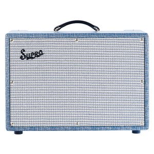 """<p>The Supro """"Dual-Tone"""" 1×12 combo amplifier is the undeniable rock star of the mid 60's Supro amplifier lineup. Sought after for decades these 1624T amps embody the best of the Supro sound. As the Dual-Tone's volume knob is turned beyond noon, a fat and compressed clean tone evolves into an immediately recognizable grind that remains articulate and workable even when running flat out.</p>"""