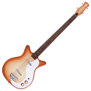 """<p>DANELECTRO 59DC LONG SCALE BASS - COPPER BURST</p> <p><span>Return of the 1990's classic!</span><br /><span>High impedance, high output Lipsticks® for very """"round"""" tone. Adjustable saddle bridge. Way fun!</span></p>"""