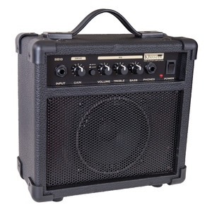 """<div>A great sounding, feature-laden amp ideal for the budding guitar hero! The 10-watt BB10 is great for all kinds of music, with a versatile Bass/Treble EQ that allows you to mould your sound to your heart's content, and a gain control that will take you from bright cleans to crushing distortion. Best of all, you can plug your headphones in for silent practice when the adults have had enough!</div><div><br></div><div>Input:</div><div>This is a standard 1/4"""" input jack for plugging in your instrument. It is intended for guitars but will accept other instruments as well.</div><div><br></div><div>Gain:</div><div>Adjust this clockwise to increase the amount of distortion you add to the overdrive signal. Used in the lower ranges of the control, you get a less distorted sound, a 'bluesy' tone. As you increase the gain, you add tremendous amounts of distortion to the signal for a harder edged 'crunch' tone.</div><div><br></div><div>Drive/Clean:</div><div>Push this little button to get classical overdrive or normal clean guitar tones.</div><div><br></div><div>Volume:</div><div>The output volume control for the entire amplifier.</div><div><br></div><div>Treble:</div><div>Adds extra treble to the bass tone for additional 'bite' and attack. Too much will give an overly abrasive sound.</div><div><br></div><div>Bass:</div><div>Adds extra bottom end for a rounder, deeper and smoother bass tone.</div><div><br></div><div>Phone:</div><div>A 1/4"""" jack for plugging in headphones creating a pseudo-stereo sound. Select sound level with the volume control. It will automatically disconnect the internal speaker when plugged in to allow quiet practising.</div><div><br></div><div>Power:</div><div>This switch turns the power to the amp on and off.</div><div><br></div><div>Size:</div><div>23.5cm (H) x 24.5cm (W) x 12.4cm (D)</div><div><br></div><div>Weight:</div><div>2.95 Kg</div>"""