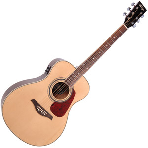 "<p>VINTAGE FOLK GUITAR- E/A - NATURAL</p> <div id=""prodinfo""> <h2 id=""prodh2"">Vintage VE300 (Natural)</h2> <p>Thinking of buying an acoustic or electro acoustic guitar? Obviously you want the best possible guitar you can get for your money.</p> <p>The guitar that looks the best, sounds the best and is available at the best possible price for you. In that case, it's got to be a Vintage.</p> <p>The range of Vintage electro-acoustic guitars offer fantastic value. With its keen value-for-money approach, the comprehensive Vintage line-up of acoustics and electro-acoustics represents a collection of guitars you can be extremely proud of.</p> <p>With a solid Spruce top and a Shadow Pre-Amp system the price of this guitar is simply absurd.</p> <p>Probably the best value electro-acoustic on the market.</p> </div> <div class=""list_custom1""> <h2>Vintage VE300 Electro-Acoustic Features:</h2> <ul> <li><strong>Top</strong>: Solid Spruce</li> <li><strong>Back</strong>: Nato Laminate</li> <li><strong>Sides</strong>: Nato Laminate</li> <li><strong>Binding</strong>: Multi-Layer White/Black</li> <li><strong>Neck</strong>: Nato</li> <li><strong>Scale</strong>: 642mm</li> <li><strong>Pickup</strong>: Fishman Sonicore Pickup</li> <li><strong>EQ</strong>: Fishman Isys +</li> <li><strong>Controls</strong>: 3 Band EQ</li> <li><strong>Tuners</strong>: Chrome Die Cast</li> <li><strong>Strings</strong>: High Quality USA Made</li> <li><strong>Finishes</strong>: Sunburst and Gloss Black</li> </ul> </div> <div class=""list_custom1""> <h2>Isys + Pre-amp Features:</h2> <ul> <li>Onboard easy to read 7-segment LED tuner</li> <li>Bass & treble controls for enhanced tone shaping</li> <li>Smaller footprint for easy access to controls</li> <li>Volume control</li> <li>EQ shaping control</li> <li>Phase control</li> <li>Low battery indicator (9V battery)</li> <li>Surface mounted battery compartment</li> <li>Pre-wired Fishman Sonicore pickup</li> <li>Low profile control knobs</li> </ul> </div>"
