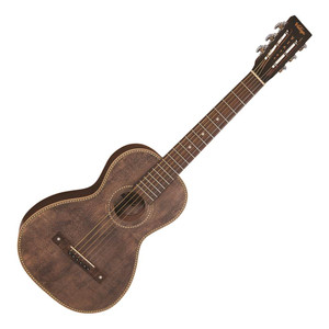 <p>VINTAGE ELECTRO VIATOR ANTIQUED GUITAR AND BAG - WITH USB OUTPUT</p> <p>The Vintage Paul Brett Viator Travel Guitar combines the great tone and playability of its predecessor with the addition of an onboard Fishman Sonitone USB pickup system. Finished in beautiful natural antique and built from top quality tone woods such as Sitka Spruce and Sapele, the Viator also features high quality hardware including GraphTech Nu-Bone nut and Tusq saddle, and Grover open-gear machine heads. The VTR800PB-USB is ideal for recording whilst on the move, bringing the past and the present together in one small, but very impressive, package</p>