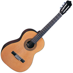 """<p>SANTOS MARTINEZ PRINCIPANTE CLASSIC GUITAR 3/4 SIZE</p> <div id=""""prodinfo""""> <h2 id=""""prodh2"""">Santos Martinez SM34</h2> <p>Lively-toned yet easily manageable thanks to its 3/4 size dimensions, the SM34 will help encourage beginner guitarists to develop proper guitar skills and abilities.</p> </div> <div class=""""list_custom1""""> <h2>Santos Martinez SM34 Features:</h2> <ul> <li><strong>Top</strong>: Spruce</li> <li><strong>Back & Sides</strong>: Sapele</li> <li><strong>Binding</strong>: Black</li> <li><strong>Neck</strong>: Nato</li> <li><strong>Fingerboard</strong>: Black Rosewood</li> <li><strong>Bridge</strong>: Black Rosewood</li> <li><strong>Machineheads</strong>: Classical Type</li> <li><strong>Finish</strong>: Natural Gloss</li> </ul> </div>"""