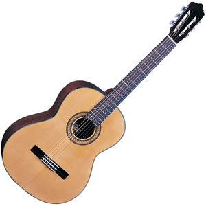 <p>SANTOS MARTINEZ ESTUDUIANTE CLASSIC GUITAR 4/4</p> <p>Selected solid spruce top and mahogany back and sides, one of the most traditional timber selections for classical guitar construction imbue the Estuduiante with a blend of mellow mids, strong bass, and sparkling treble. With cosmetic features such as multi ply binding, and pearloid butterfly machine head buttons, this Santos Martinez looks as beautiful as it sounds. Full Specification Solid Spruce top Mahogany back & sides Multi-ply binding Eastern mahogany neck Black rosewood fingerboard Black rosewood bridge Chrome plated/pearlised butterfly button machineheads High quality USA made strings Natural – gloss finish</p>
