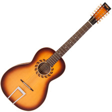 """<p>VINTAGE STATESBORO 12 STRING GUITAR & CASE BY PAUL BRETT</p> <p>Designed by 12-string guitarist and vintage guitar expert Paul Brett as a fitting tribute to the pioneering blues era of the 1930's and in particular, the legendary Blind Willie McTell, the Vintage V5000SB-12 Statesboro' oozes pure nostalgia from every pore. Featuring a solid spruce top, with maple back and mahogany sides elegantly mated to a mahogany neck with rosewood fingerboard, the Statesboro's rosewood bridge with bone saddle and bone nut provides excellent intonation and tone, with plenty of volume. """"Using the designs of the legendary Stella guitars crafted by Oscar Schmidt in the early 20th century,"""" says Paul """"Vintage and I have created a homage to the iconic model that Willie himself played. Obviously we have updated various elements to morph into todays market, but in essence, it looks like and certainly sounds like a big blues machine of that era."""" Available in both acoustic (V5000SB-12) and electro-acoustic models (VE5000SB-12 - with the addition of a Fishman PRO-REP-102 Rare Earth Humbucker soundhole pickup system) the Statesboro' is ideal for traditional blues pickers and is also able to handle many other styles and tunings, depending on string gauges. Supplied with Kinsman Hardshell case.</p> <div class=""""issuuembed issuu-isrendered"""" data-configid=""""1298782/44511630""""></div>"""